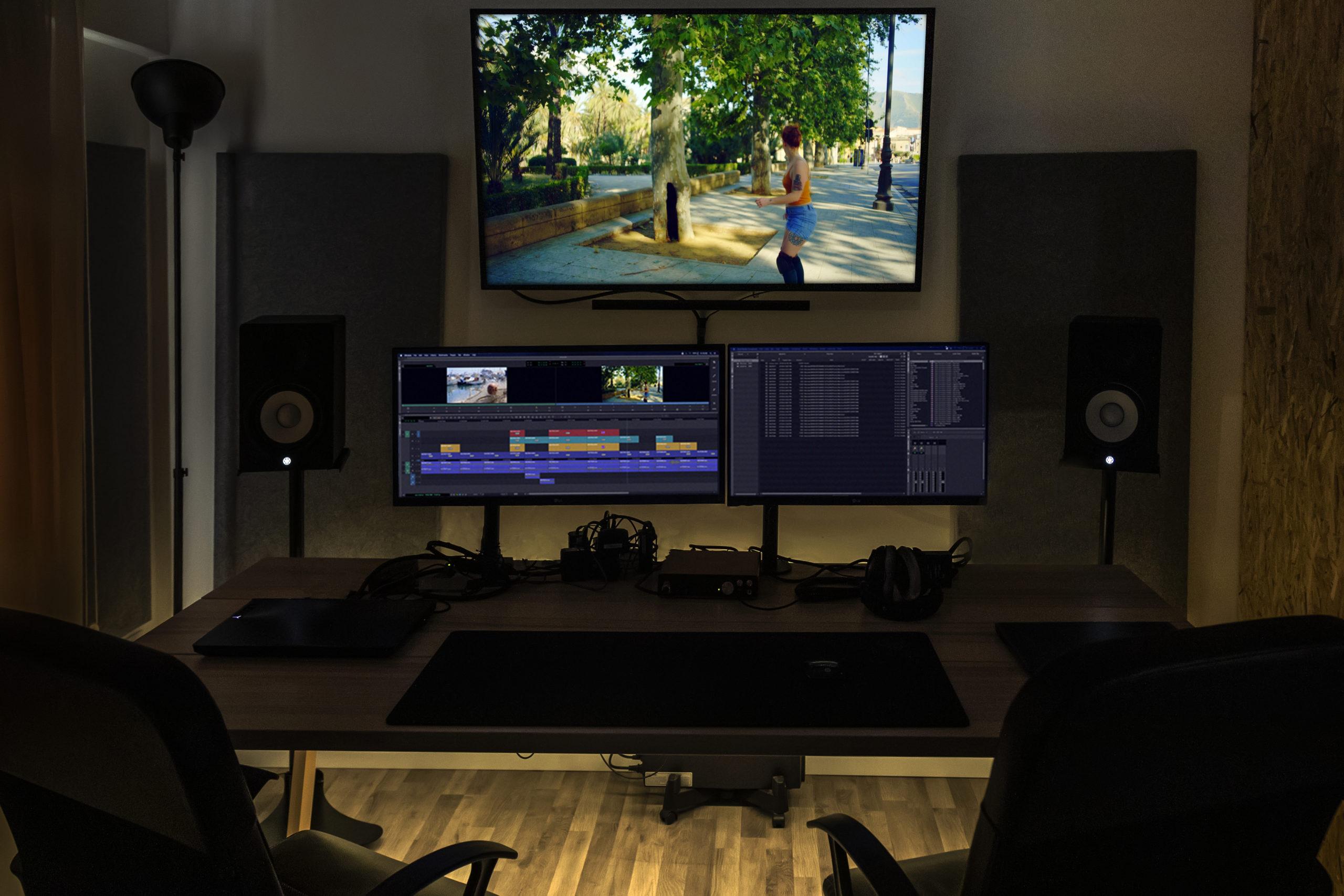 sala montaggio video